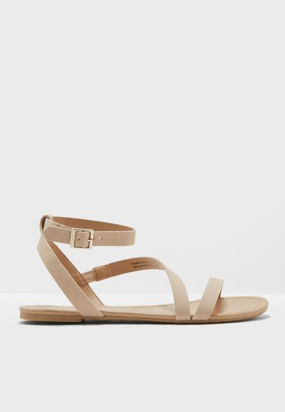 Bellana Leather Buckle Up Sandal