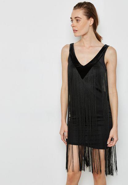 فستان ميني بشراشيب