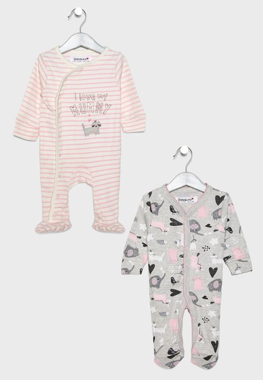 Infant 2 Pack Sleepsuits