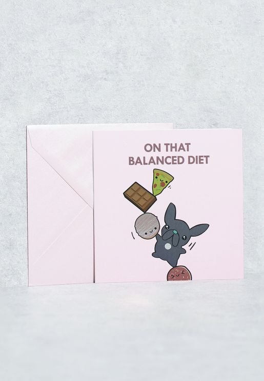 On That Balanced Diet Card
