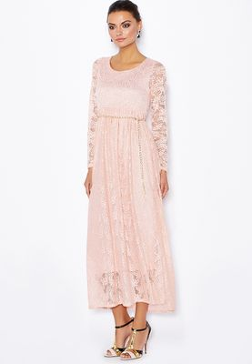 Jana Imaan Belted Lace Maxi Dress