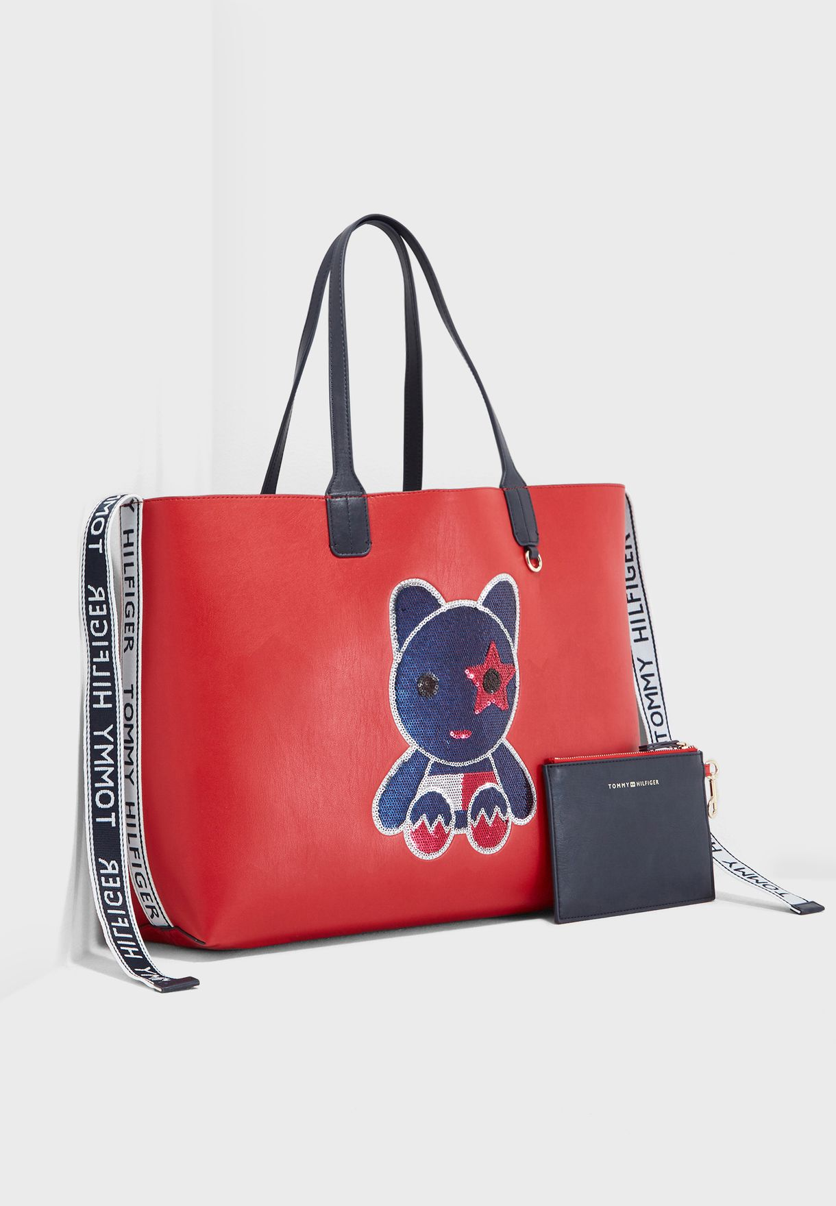 5c4195c730 Shop Tommy Hilfiger navy Iconic Mascot Tote AW0AW06042 for Women in ...