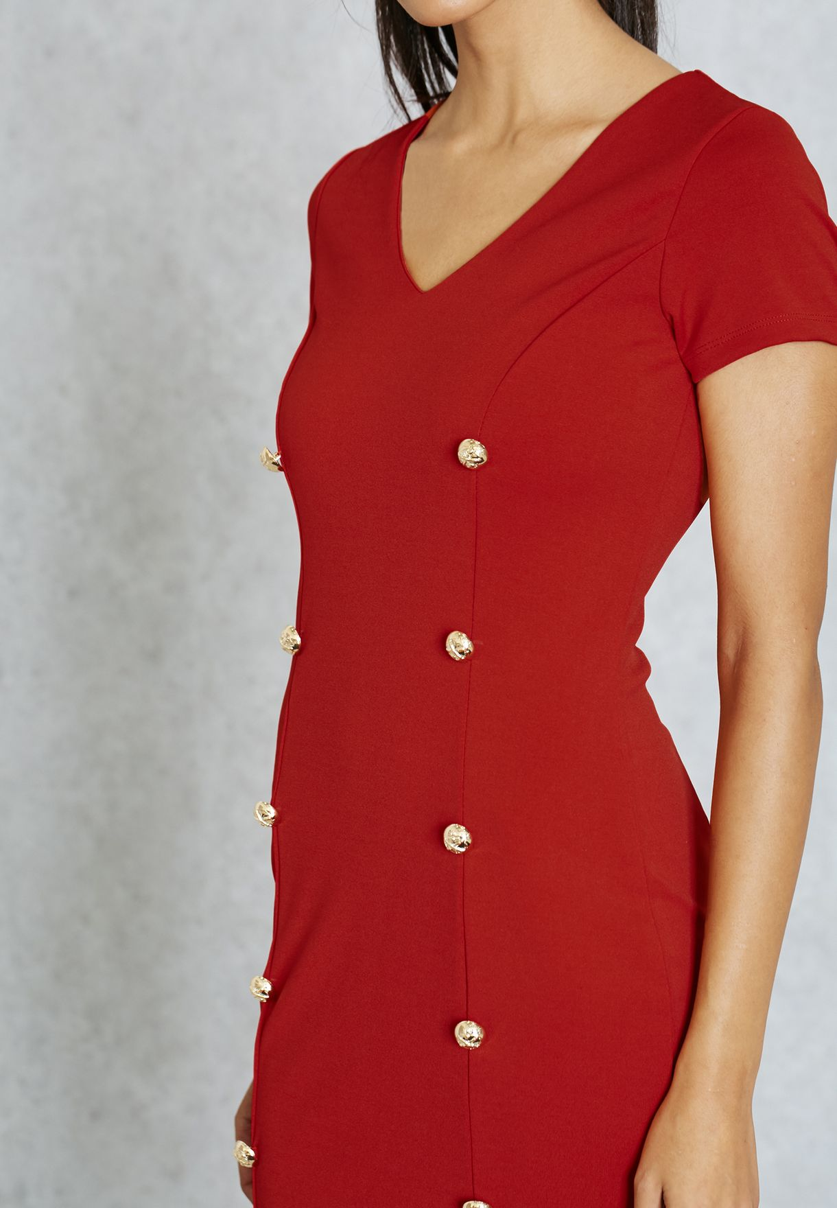 014c23851b292 Shop Ella red Double Breasted Dress for Women in Qatar ...