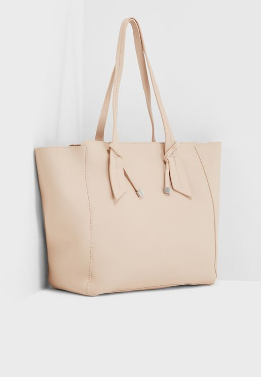 Nude Knot Strap Tote Bag