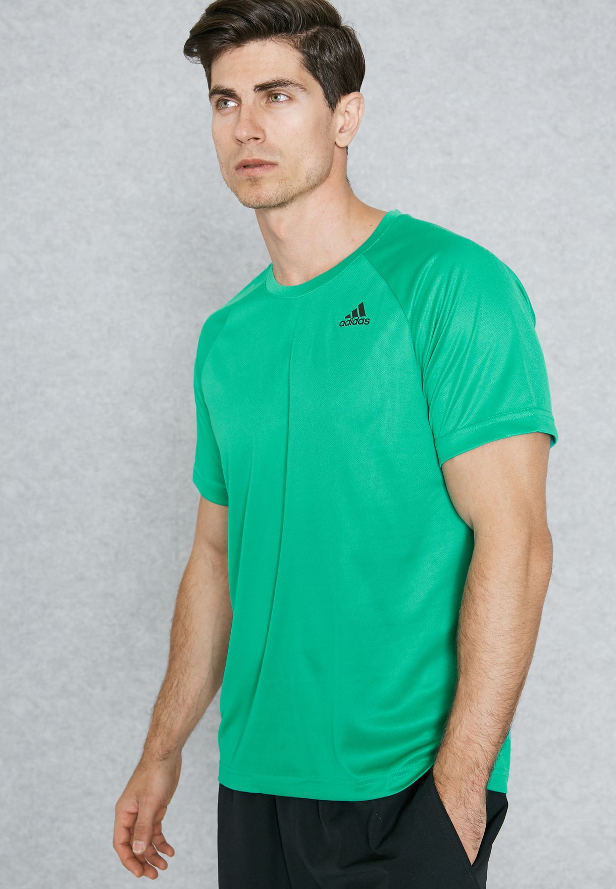 8e936c26b3bc51 Shop adidas green D2M T-Shirt BK0959 for Men in Oman - AD476AT65HUS