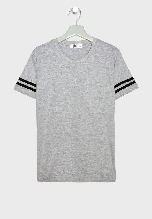 Striped Hem T-Shirt