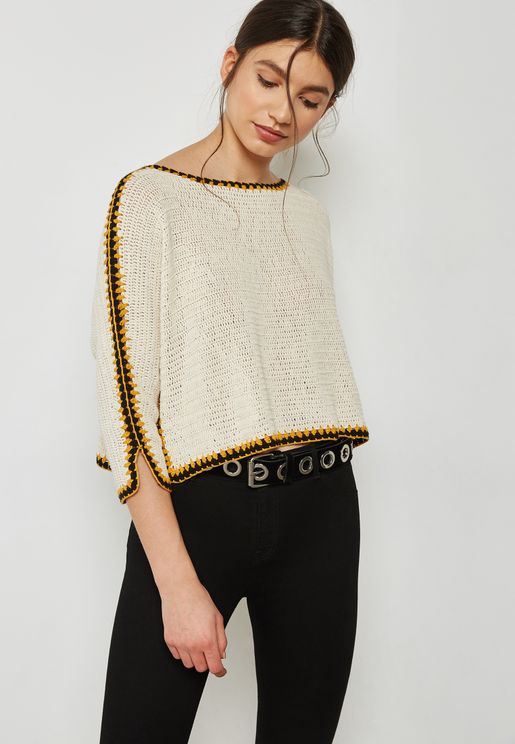 Contrast Knitted Sweater
