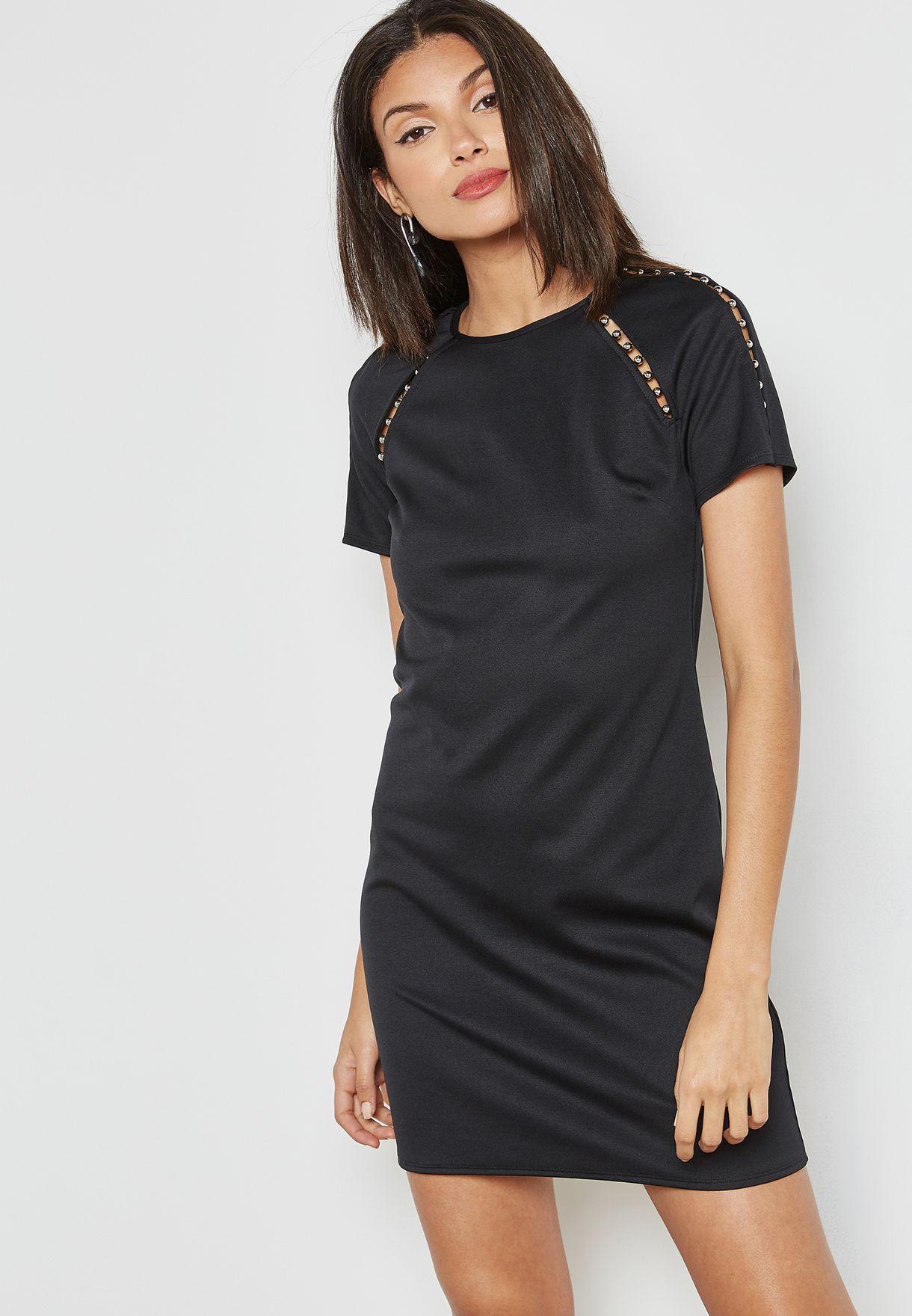 Pearl Trim Shift Dress