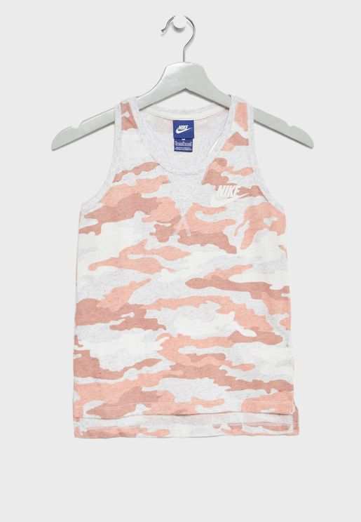 Youth Vintage Camo Tank
