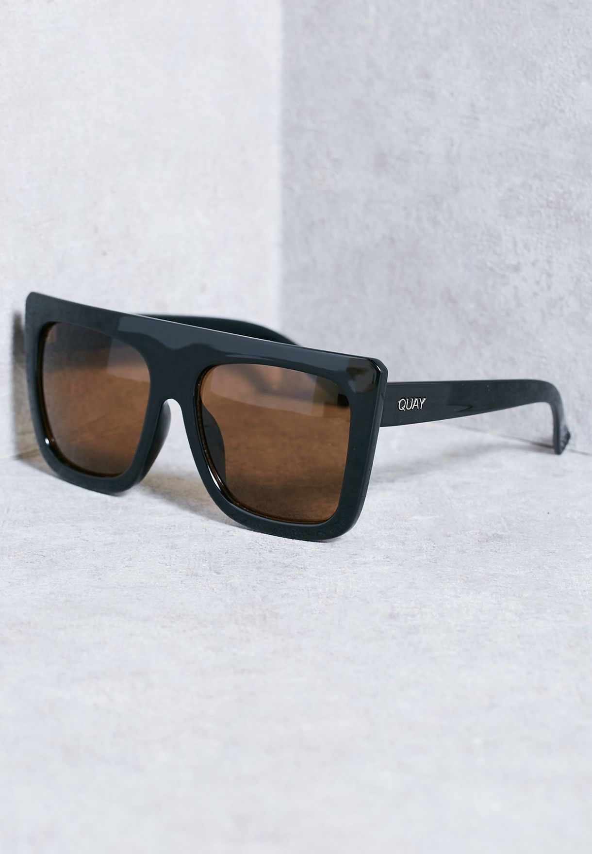 5c4b8f8be80 Shop Quay Australia black Cafe Racer Sunglasses QU-000183 BLK BROWN for  Women in Saudi - QU896AC65KHE