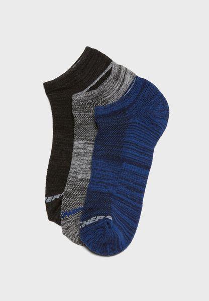3 Pack No Show Socks