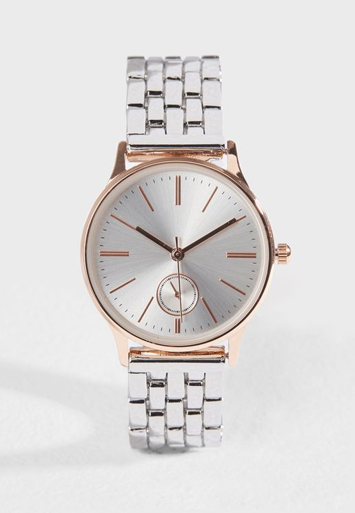 Classic Metallic Watch