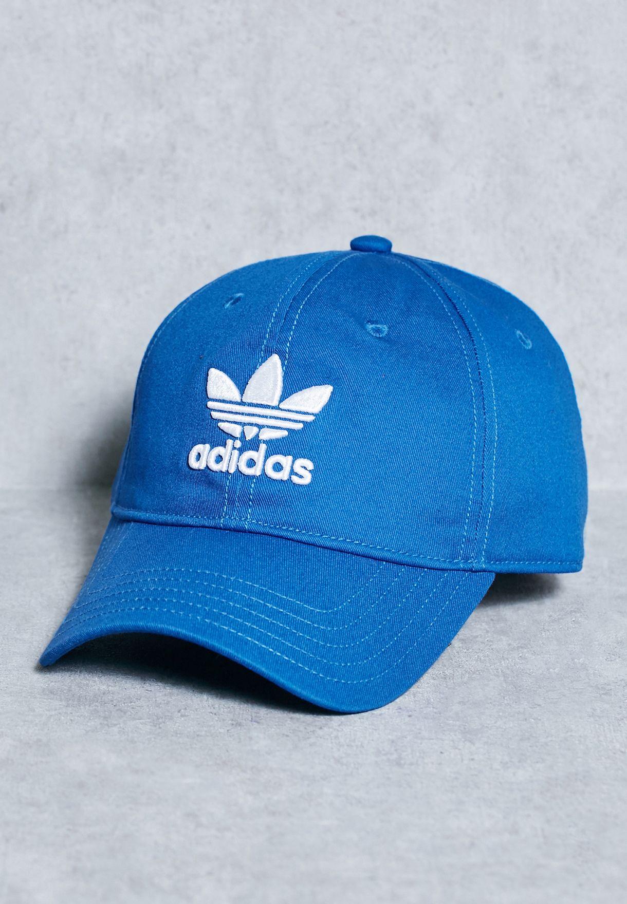 Shop adidas Originals blue Trefoil Cap BK7271 for Men in Qatar -  AD478AC65LHE c13439f7e319