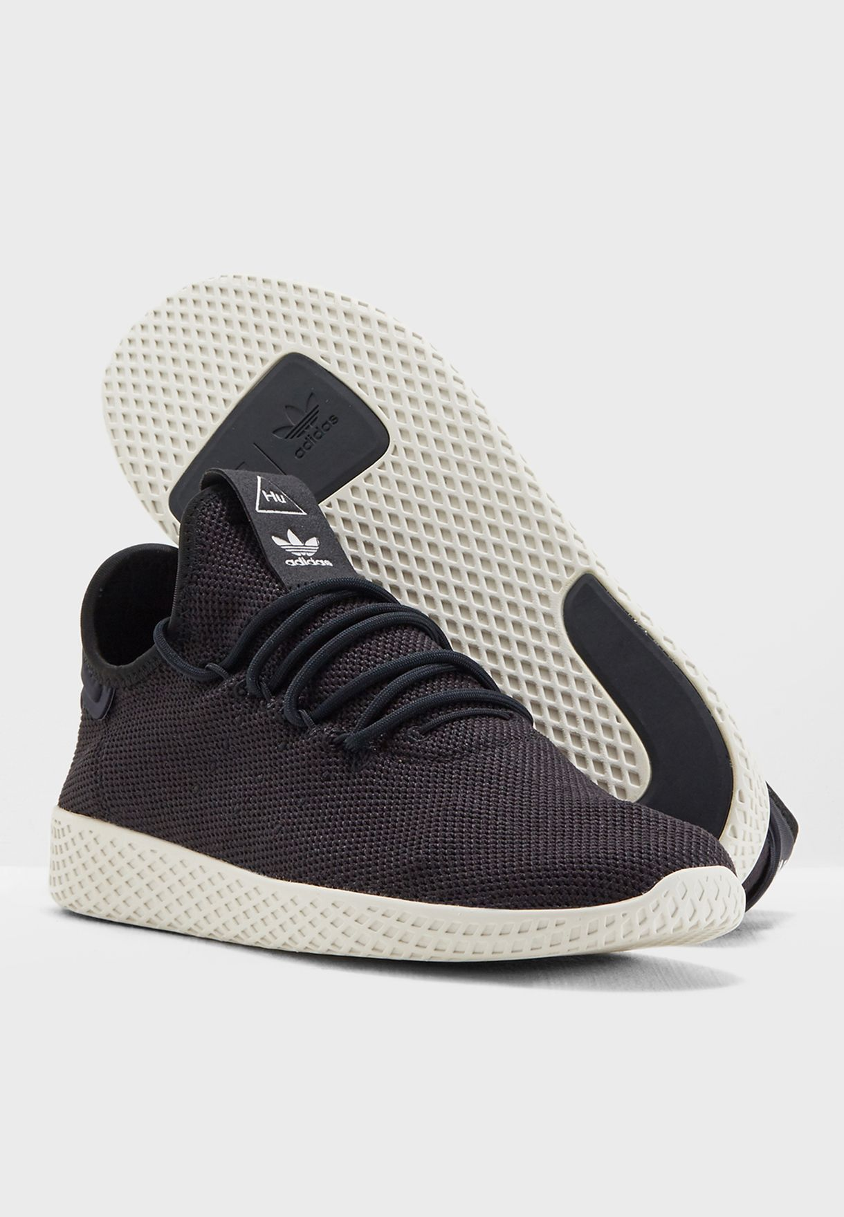 a76dbe4de1705 Shop adidas Originals black Pharrell Williams Tennis Hu AQ1056 for ...