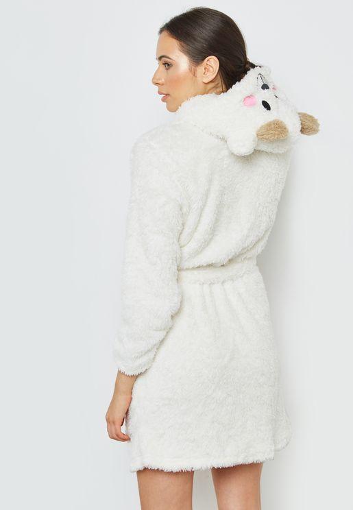 Bear Hooded Robe