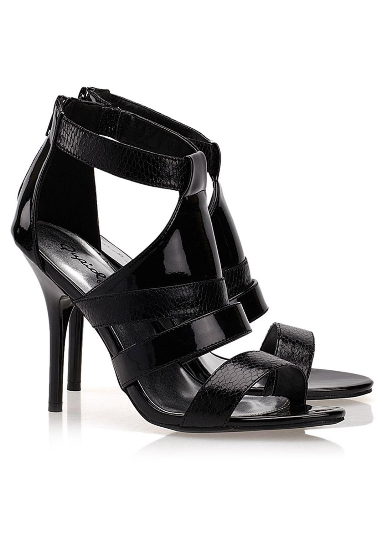 c035749be565 Shop Qupid black Strappy Sandals for Women in Qatar - QU615SH65BZE