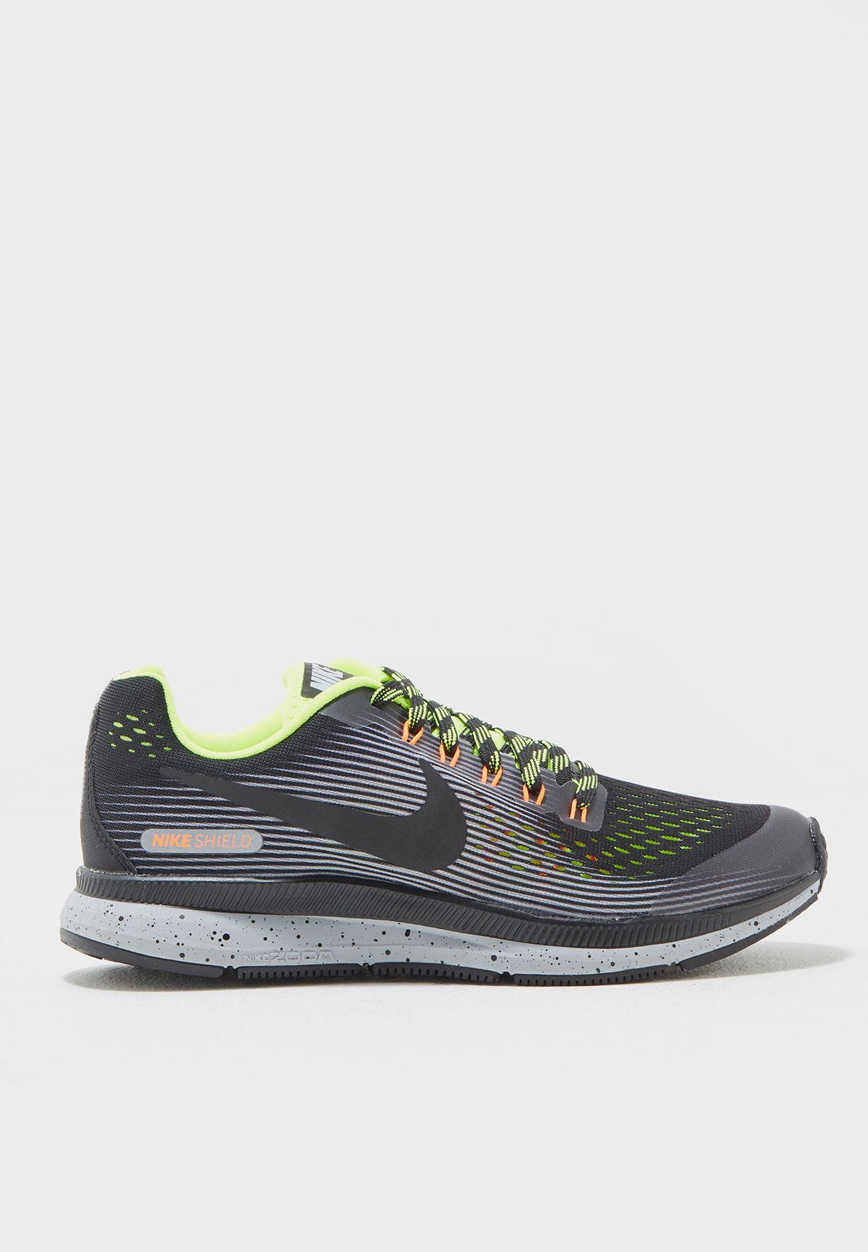 e02e5651052f Shop Nike multicolor Zoom Pegasus 34 Shield Youth 922850-001 for ...