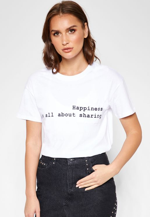 Slogan Short Sleeve T-shirt