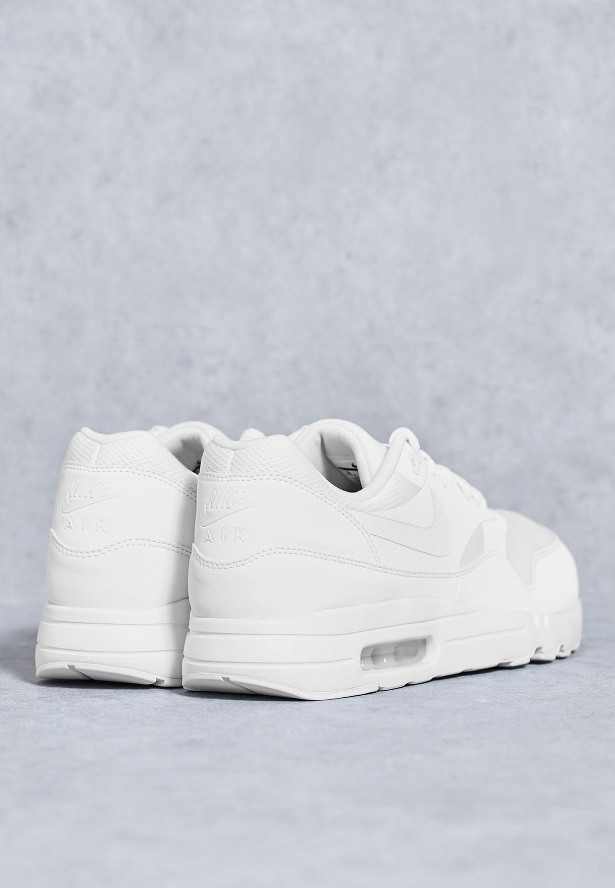 c3933202ed19 Shop Nike white Air Max 1 Ultra 2.0 Essential 875679-100 for Men in ...