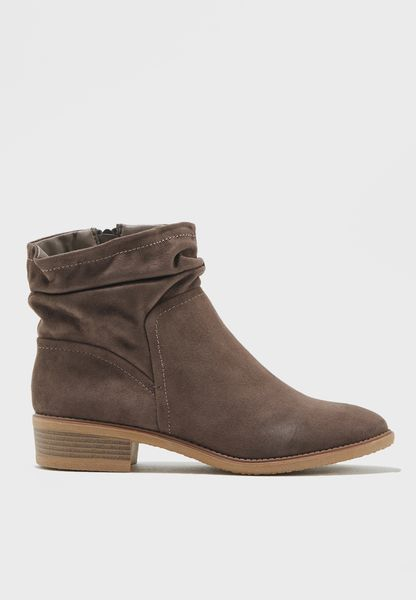 Mallory Ruched Ankle Boots