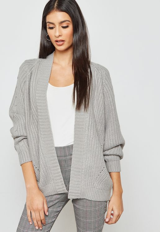 Ribbed Detail Cardigan