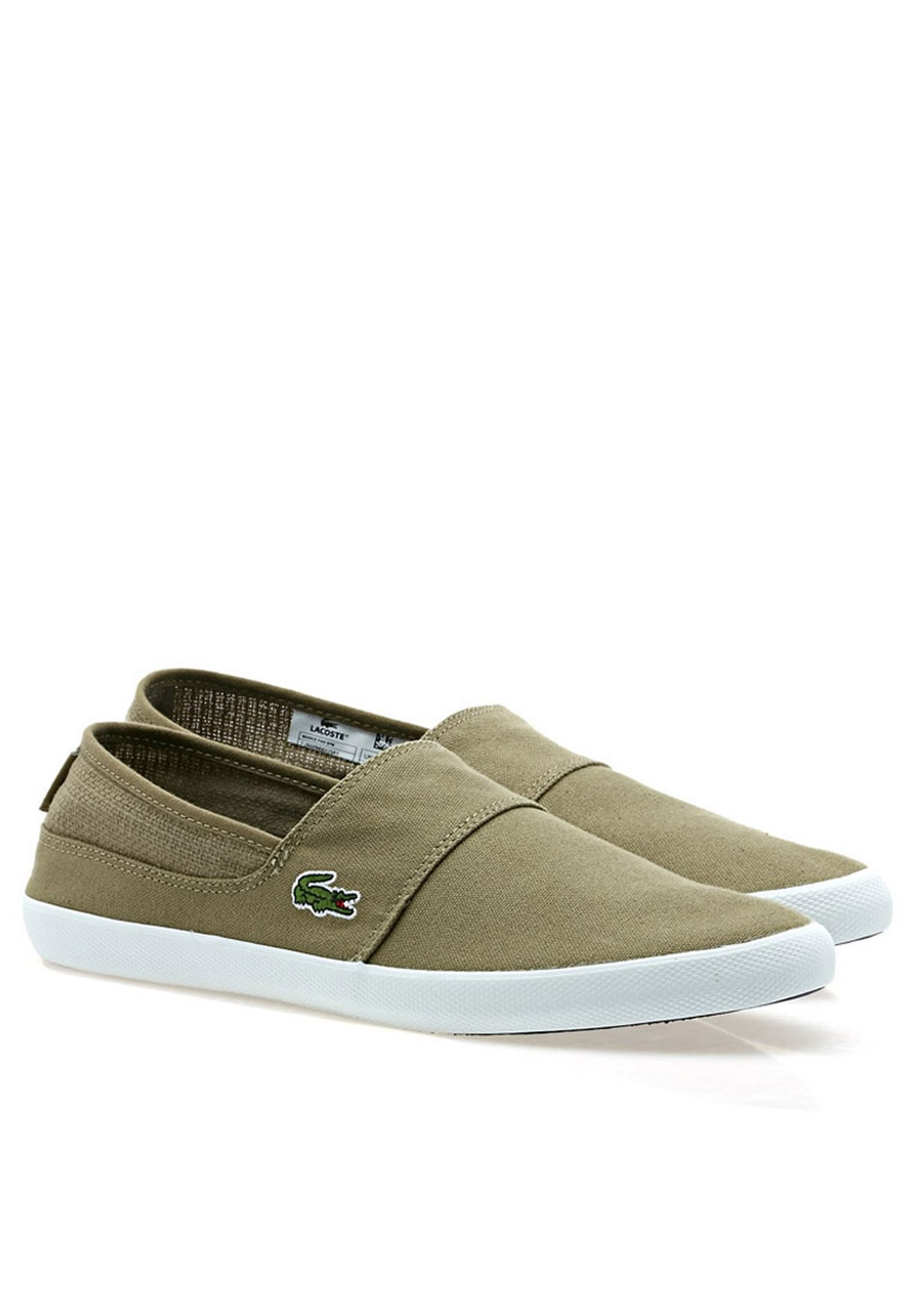 a808eab6f4a6e Shop Lacoste neutrals MARICE PARCasual Slip ons 26SPM0017-5A1 for Men in  Oman - LA014SH65BQO