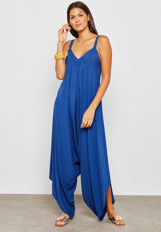 Asymmetrical Cami Strap Jumpsuit