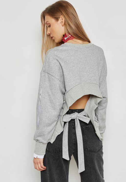 Tie Back Sweatshirt