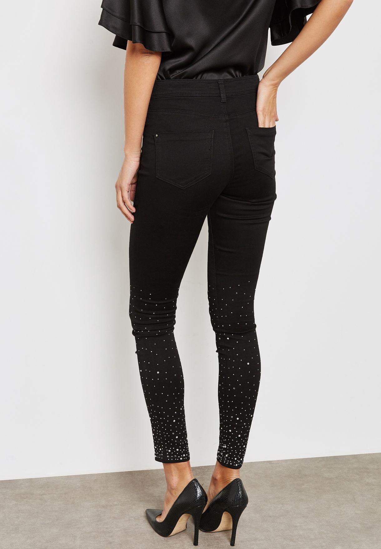 Embellished Detail Skinny Jeans