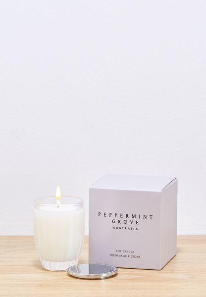 Fresh Sage & Cedar Scented Candle 60g