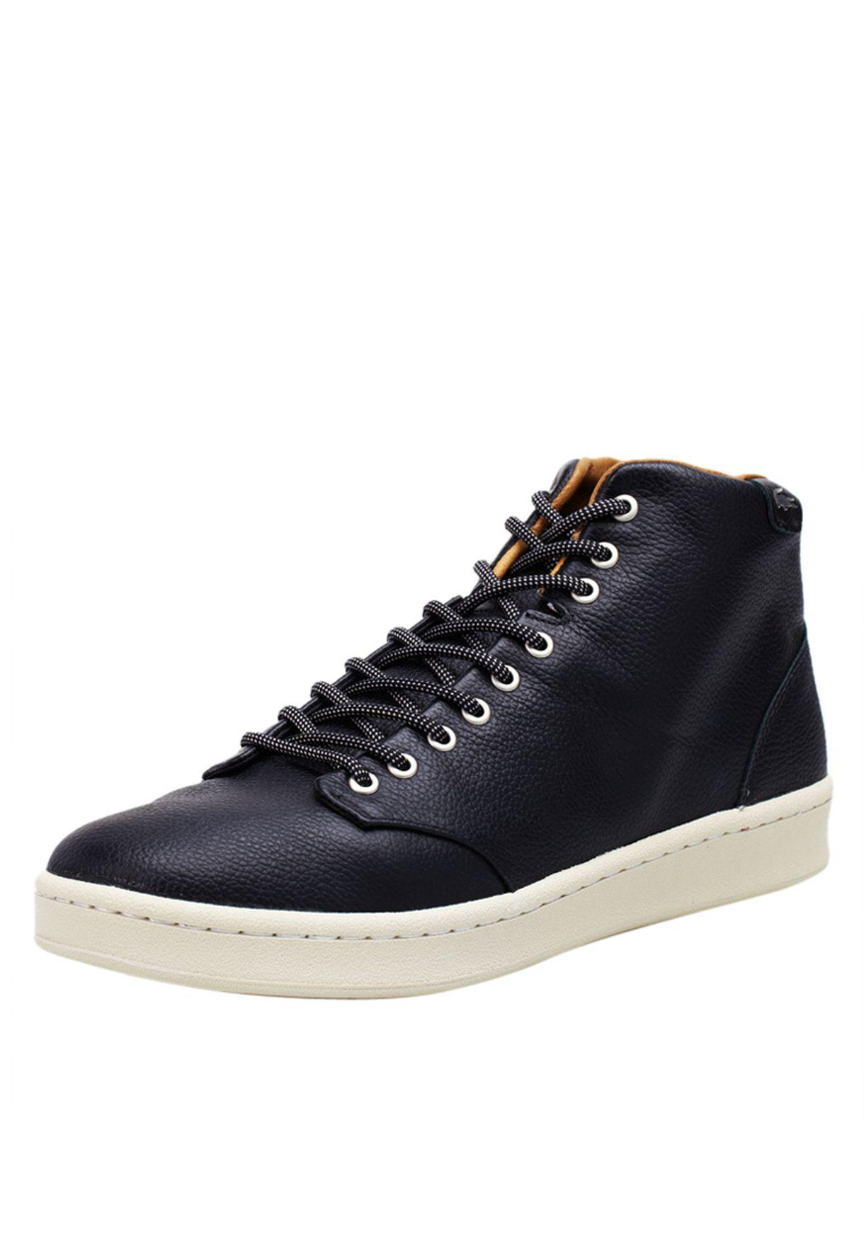 67e97480f Shop Lacoste black Heldon Hightop Sneakers 24STM4004-024 for Men in ...