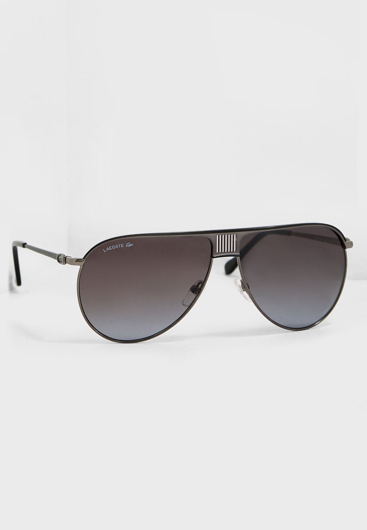 1c0d04689d29 Shop Lacoste silver Aviator Sunglasses L200S-001 for Men in UAE ...