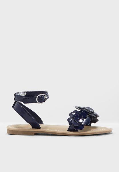 Youth Flower Detail Sandal