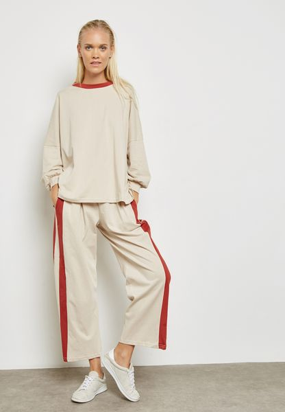 Colourblock Detail Pants Set