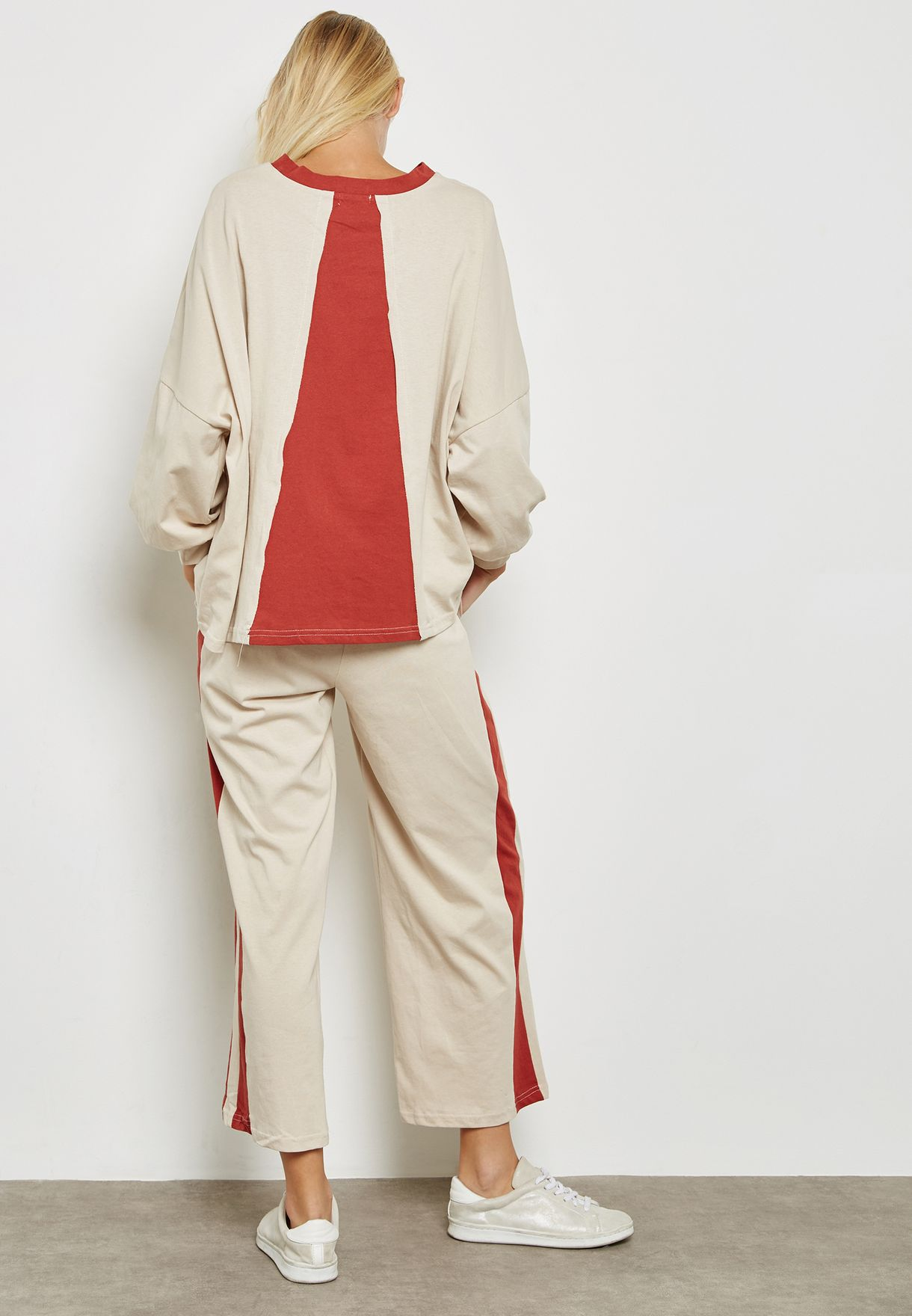 Colourblock Detail Pants Set