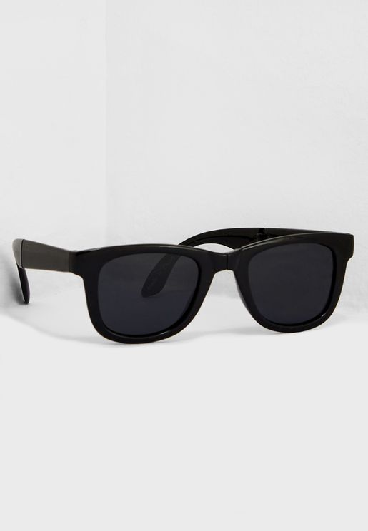 Sandbourn Fold Up Wayfarers Sunglasses