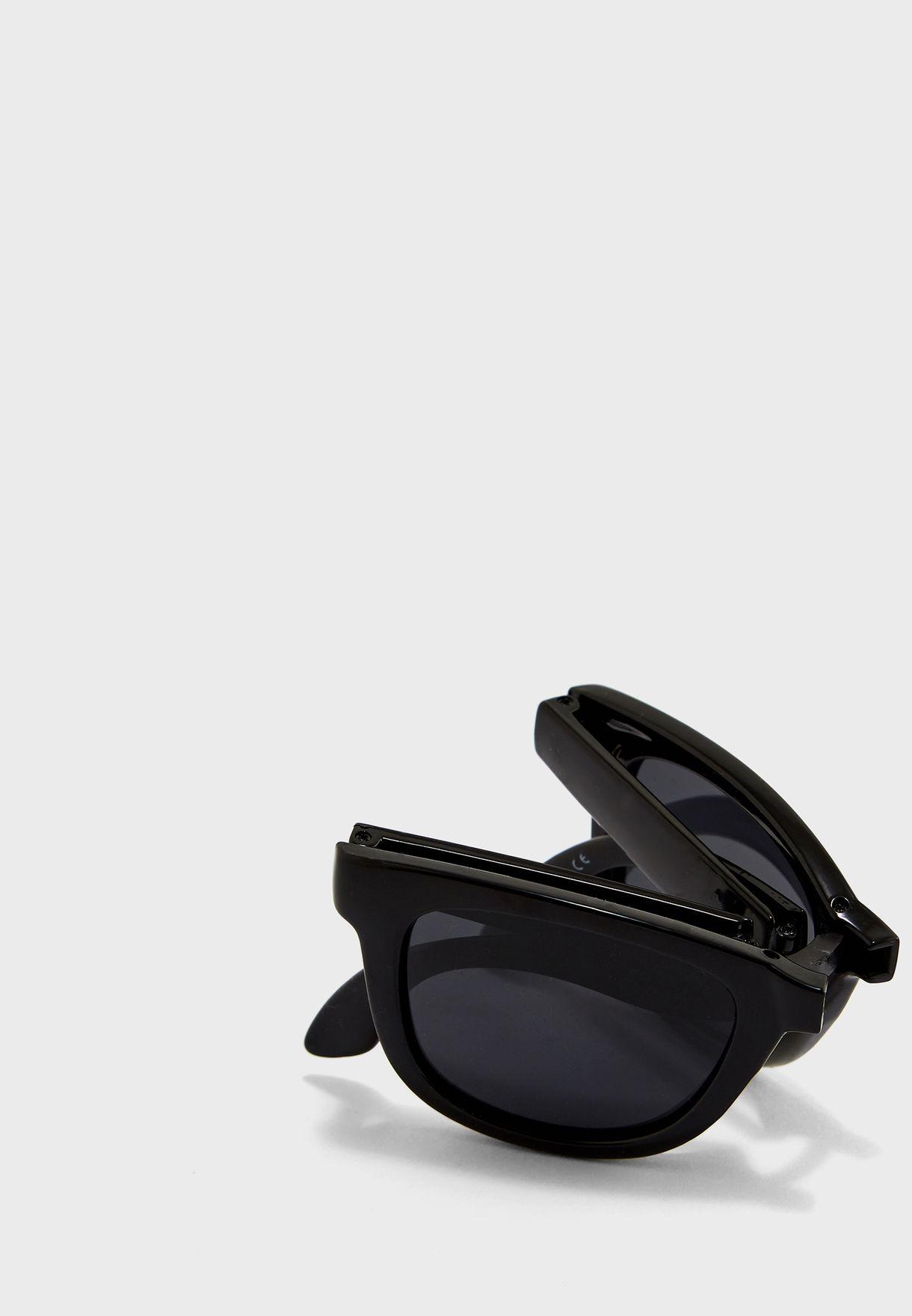 Sandbourn Fold Up Wayfarer Sunglasses