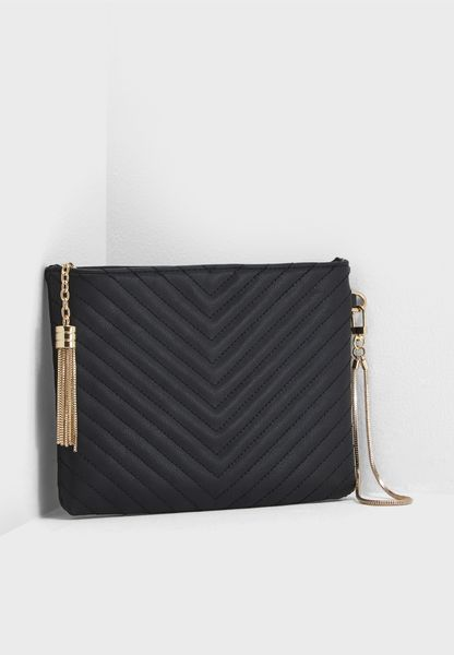 Amy Chevron Quilt Clutch