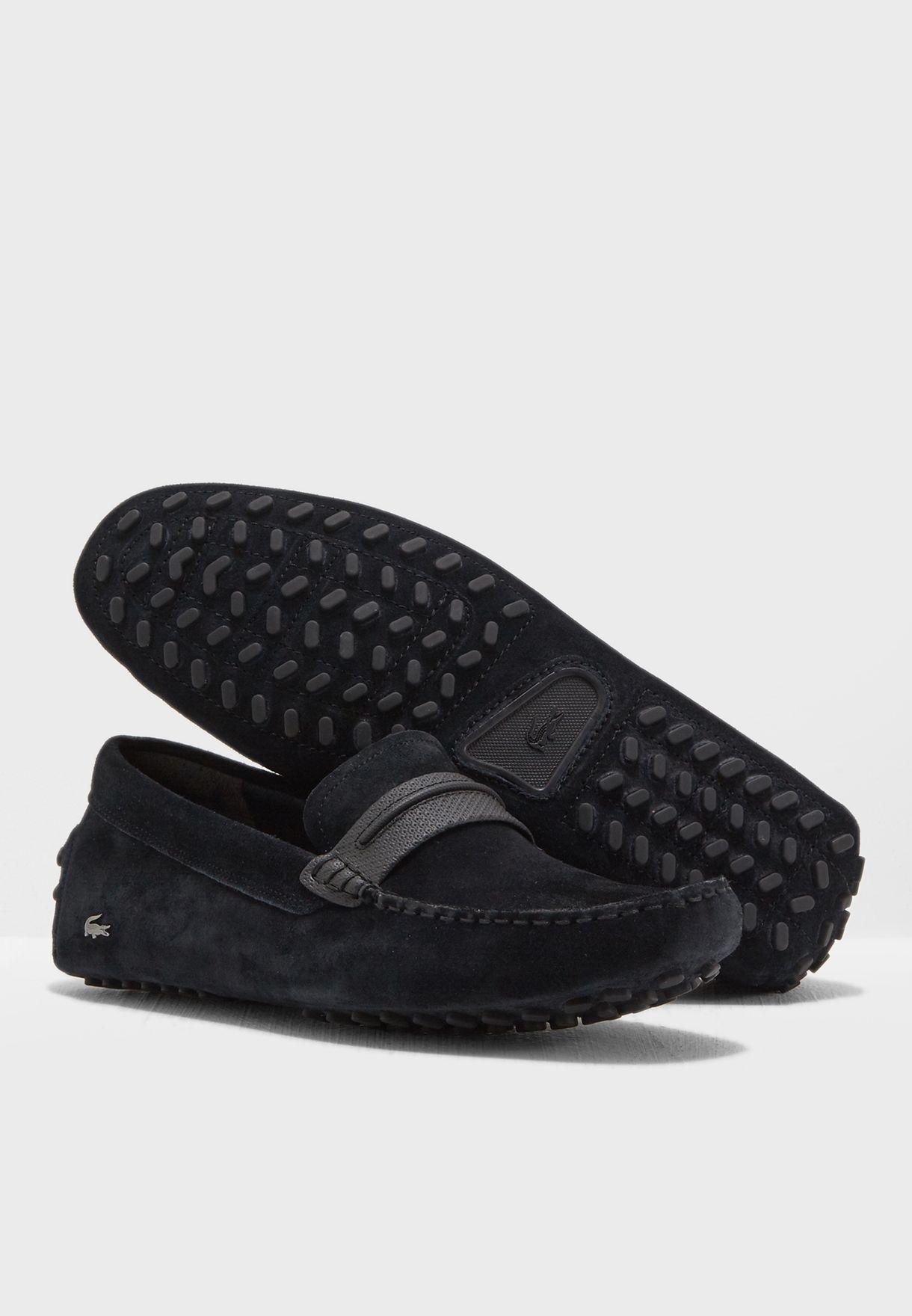 3ed62841ff1c10 Shop Lacoste black Herron Slipons 735CAM0040-237 for Men in Saudi ...