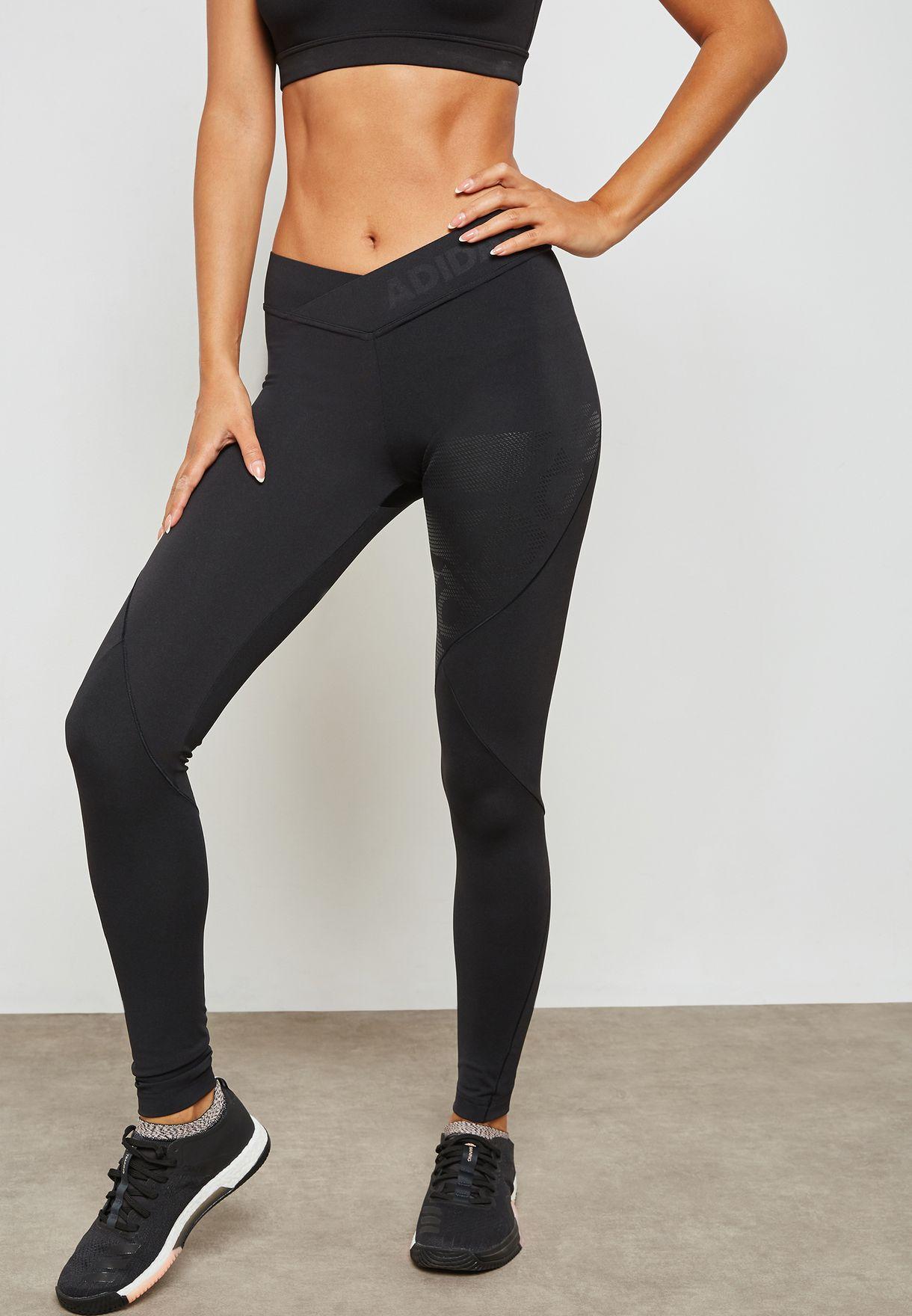 126e0dd2c5f23 Shop adidas black Alphaskin Tech Leggings CY2254 for Women in UAE ...