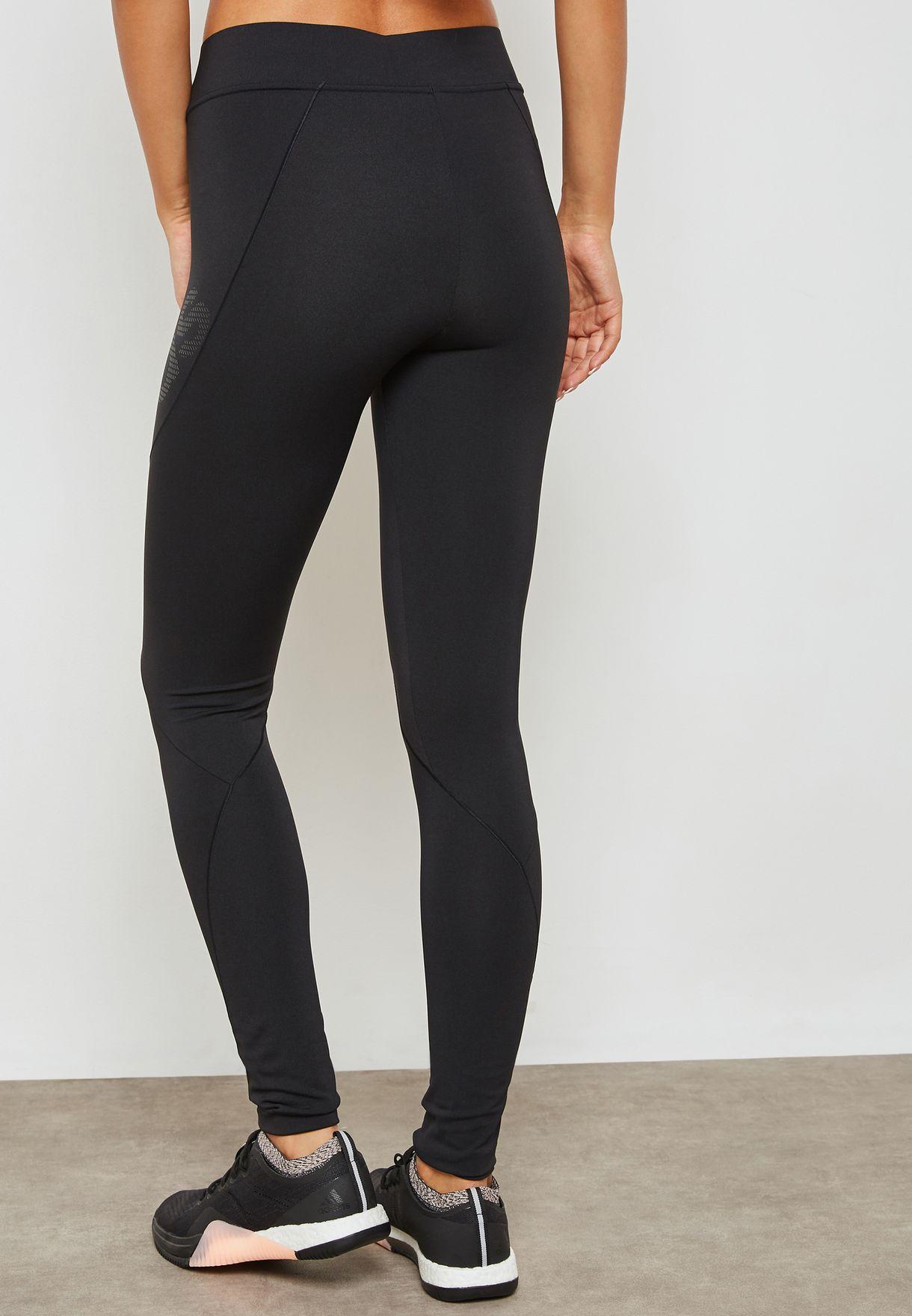 72cb5189925 Shop adidas black Alphaskin Tech Leggings CY2254 for Women in Qatar ...