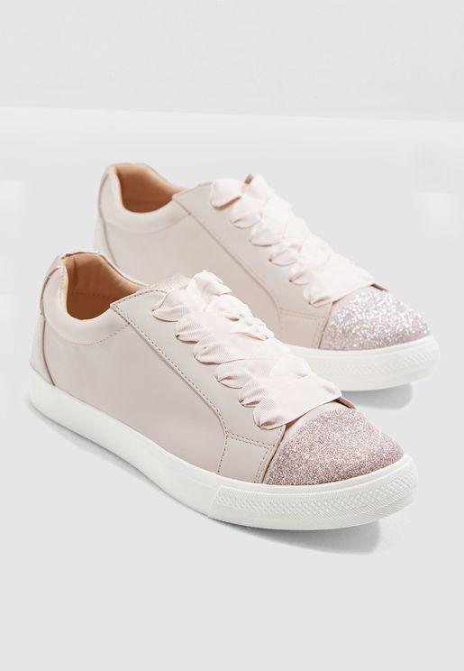 22b47acfa3df Syke Glitter Toe Cap Sneaker