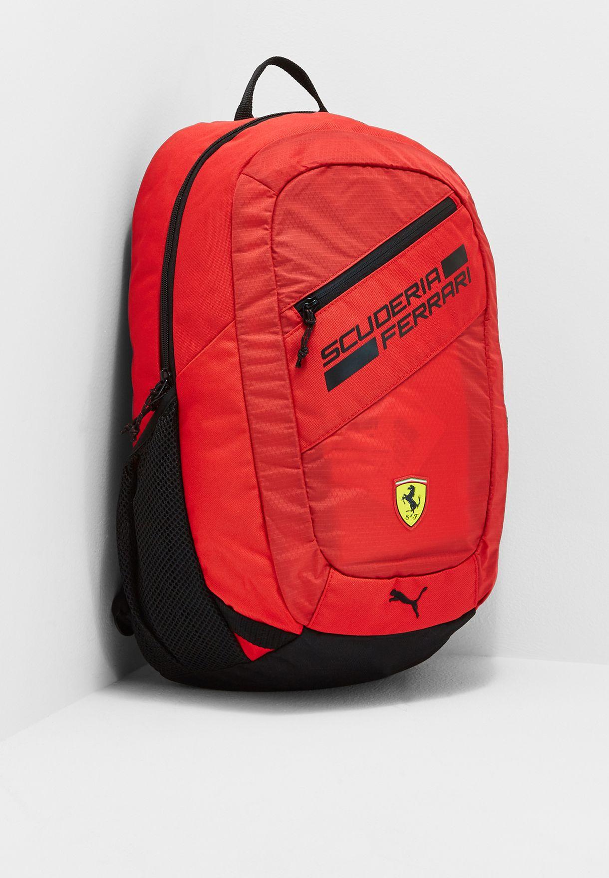 5468fe4638 Shop PUMA red Ferrari Fanwear Backpack 07477601 for Kids in UAE ...