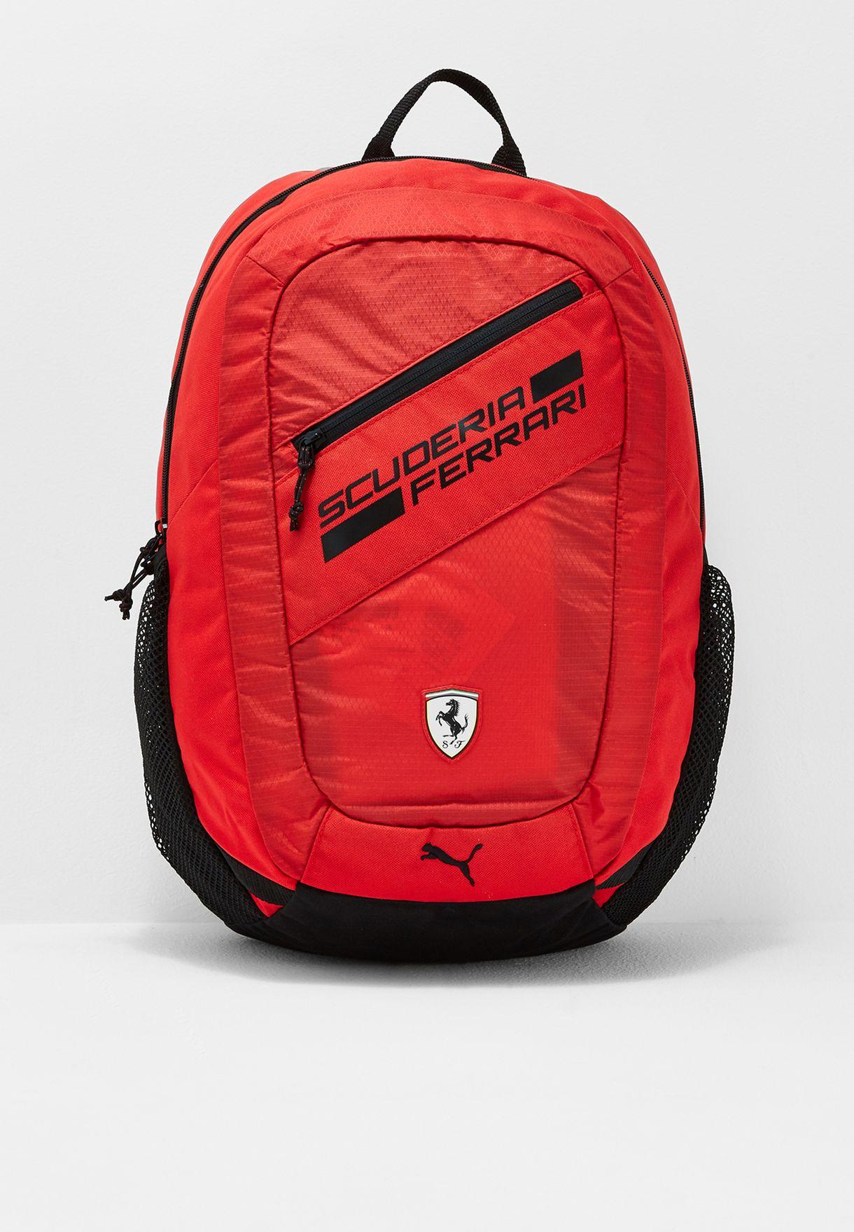 8faeef89cfa05 Shop PUMA red Ferrari Fanwear Backpack 07477601 for Kids in UAE ...