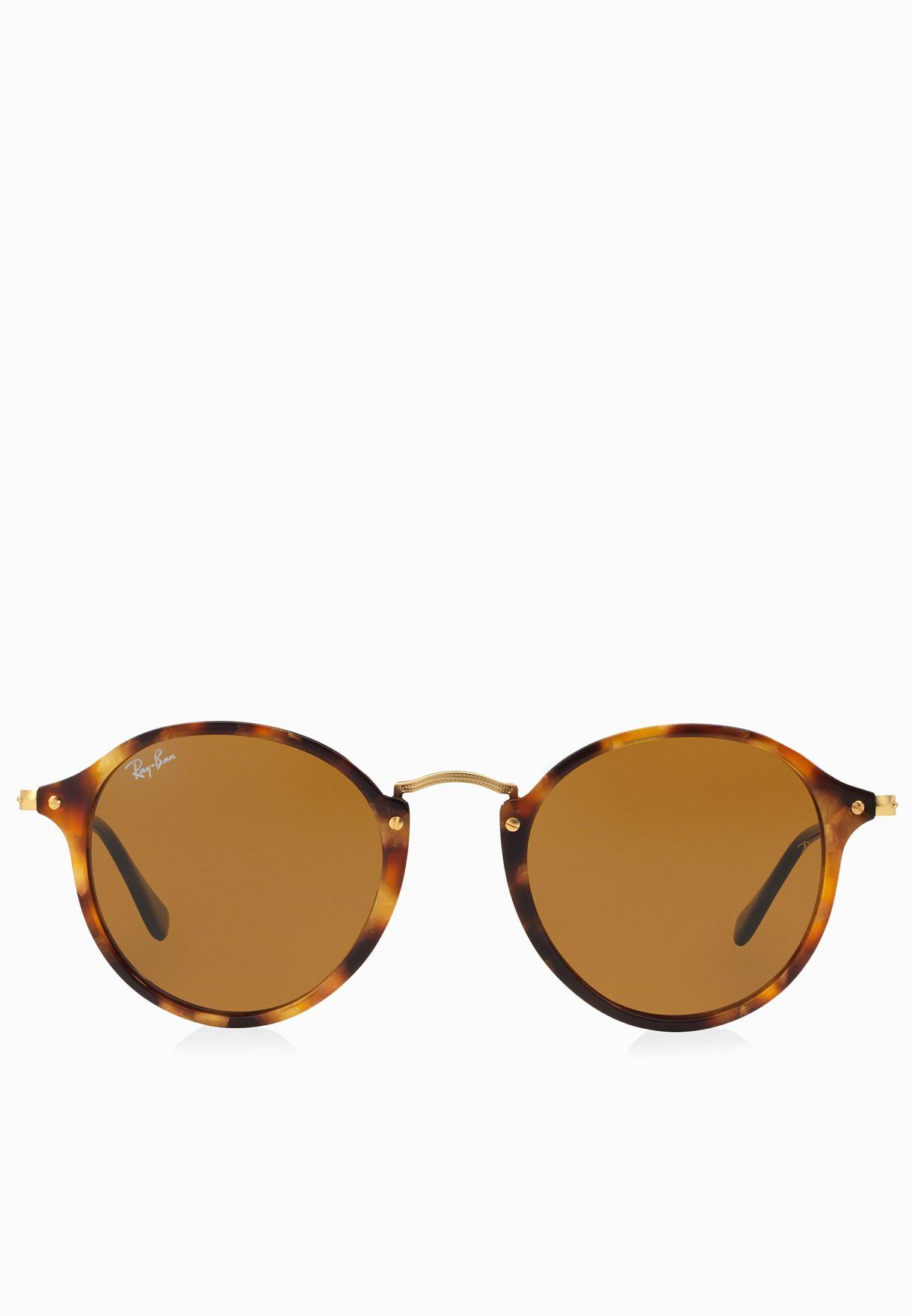 0RB2447 Round Fleck Sunglasses