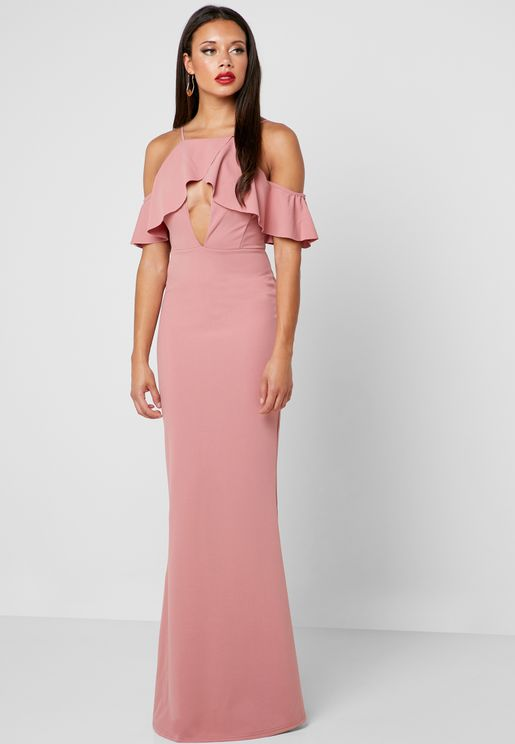 Frill Detail Maxi Dress