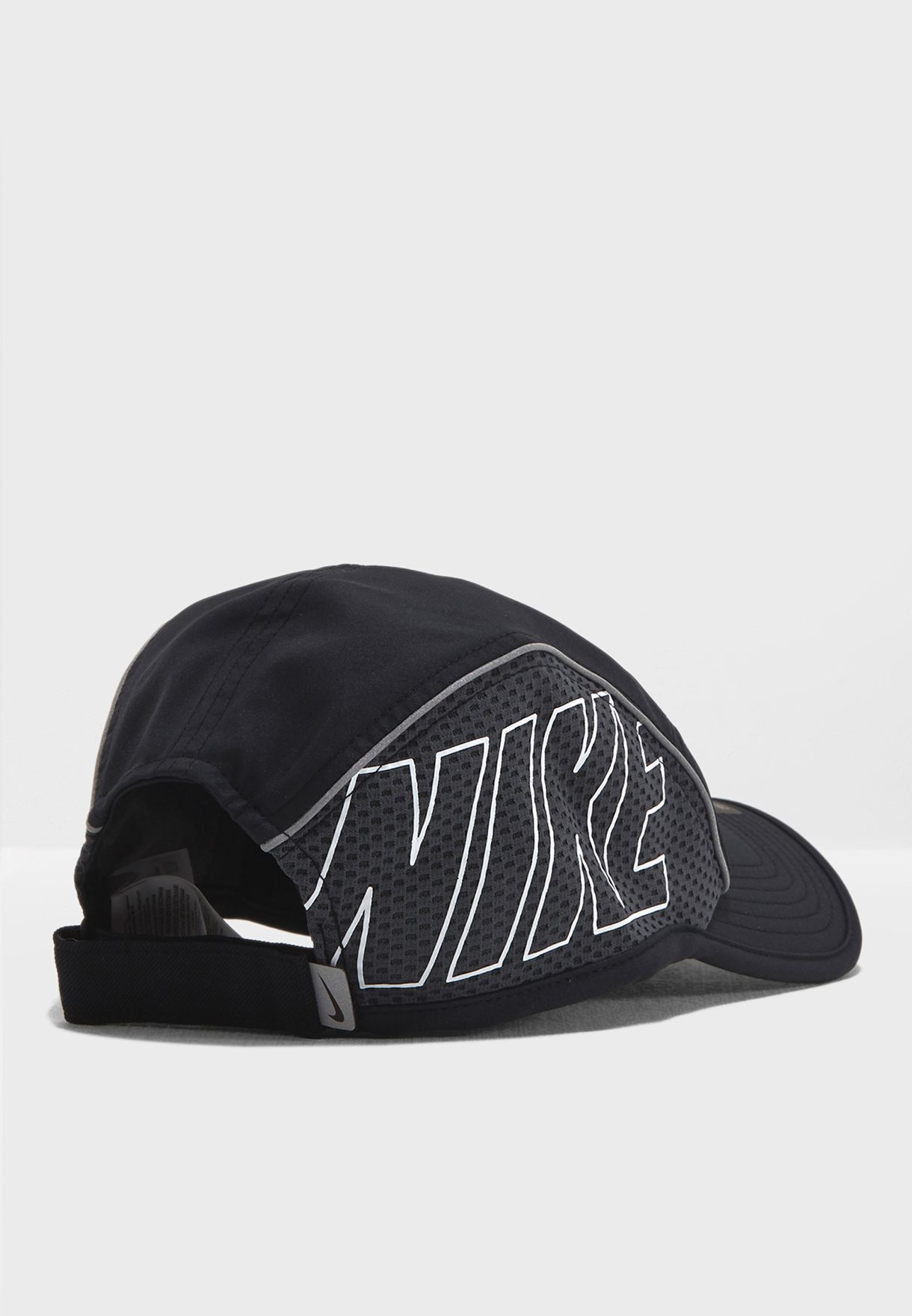 9ea34db77d0c4 Shop Nike black AW84 Aerobill Run Cap 848376-010 for Women in Saudi ...