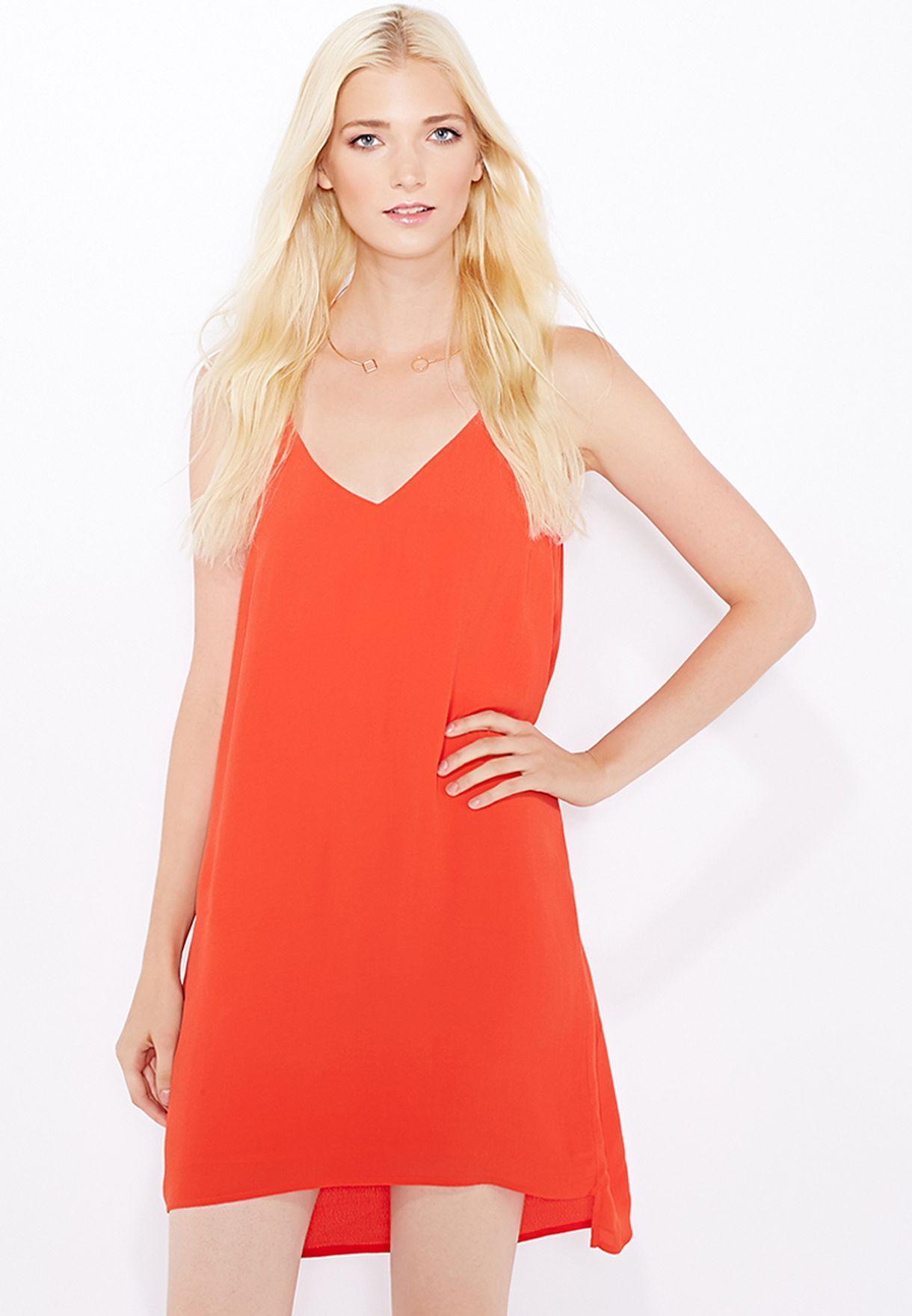 3b56c0197b74 Shop Topshop red High Apex Slip Dress 10K05HTOM for Women in Qatar ...