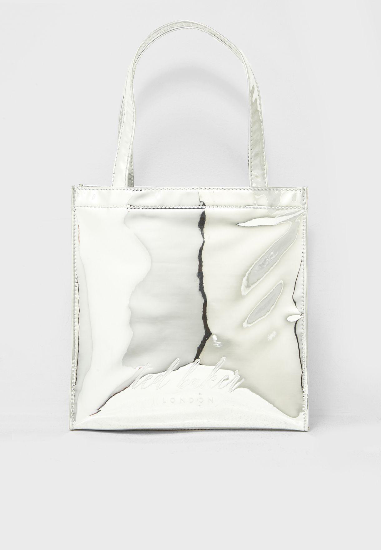 a511244ea Shop Ted baker silver Small Mirrored Shopper WXB-DORACON-XA7W for ...