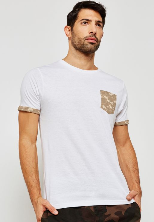 Camo Pocket Crew Neck T-Shirt
